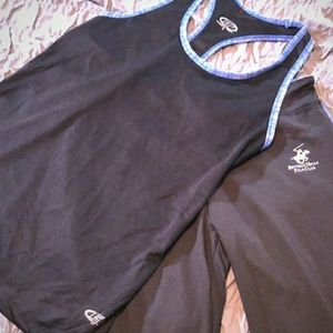 Polo workout set breathable material